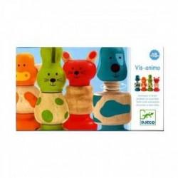 VIS-ANIMO gioco in legno Djeco DJ06304 avvita svita da 18 mesi
