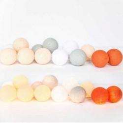 LUCI HAPPY LIGHTS YOUSSEF fila 20 palline colorate in corda con lampadine spina