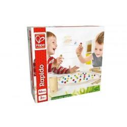 RAPIDO gioco di biglie IN LEGNO DI BAMBOO Hape ABILITA' età 3 anni +