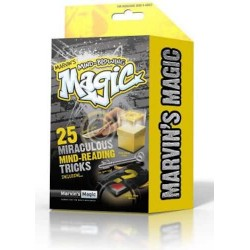 Marvin's Magic MIND-BLOWING TRICKS set kit 25 TRUCCHI MAGICI magia LETTURA MENTE giallo ILLUSIONISTA età 8+