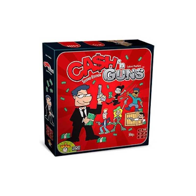 CASH'N GUNS seconda edizione PARTY GAME gangster BLUFF carte PISTOLE FINTE età 10+
