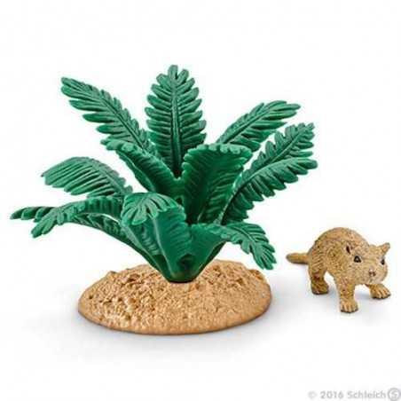 MERIONE NEL RIFUGIO animali in resina SCHLEICH topo 42323 GERBILLO miniature WILD LIFE età 3+