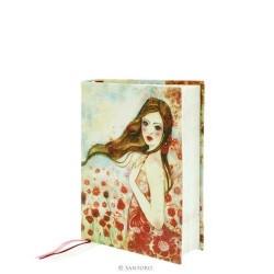 NOTEBOOK Willow POPPIES IN THE SKY cloth 365EC03 SANTORO taccuino COPERTINA MORBIDA