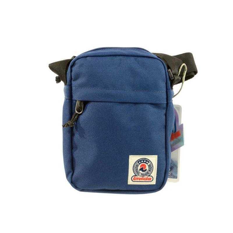 vendita calda online 2ab76 2eac3 Fresh MINI Shoulder BAG Office INVICTA tinta unita BLU scomparto tasca zip  TRACOLLA