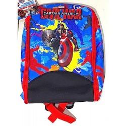Game Backpack ZAINO GIOCO borsa apribile CIVIL WAR Marvel CAPITAIN AMERICA capitan BERSAGLIO scudo PALLINE freccette