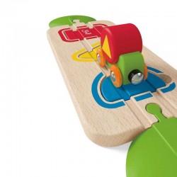 PERCORSO FORME E COLORI in legno HAPE E3810 gioco prima infanzia treno formine incastro