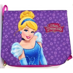 DOUBLE FACE BACKPACK sacca BAG borsa borsetta zaino DISNEY PRINCESS biancaneve cenerentola DREAM BIG