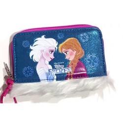 PORTAFOGLI wallet FROZEN sisters forever PORTA MONETE soldi MAGICO INVERNO Disney PELO