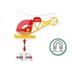 ELICOTTERO DEI POMPIERI firefighter helicopter BRIO ferrovia TRENO trenino 33797 SOCCORSO età 3+