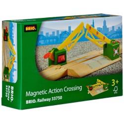PASSAGGIO A LIVELLO MAGNETICO magnetic action crossing BRIO ferrovia TRENO trenino 33750 WORLD età 3+