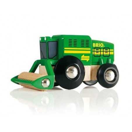 MIETITREBBIA harvester BRIO ferrovia TRENO trenino 33407 macchine agricole TRATTORE età 3+