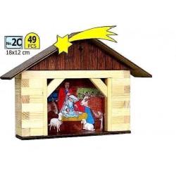 PRESEPE in legno WALACHIA modello da costruire COSTRUZIONI kit WALL età 8+