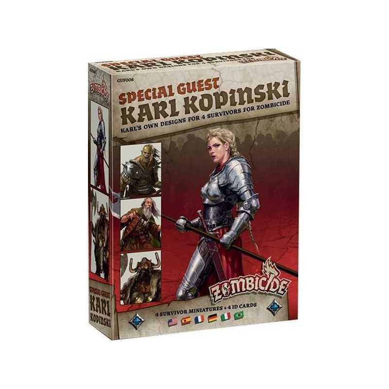 ZOMBICIDE Black Plague SPECIAL GUEST Karl Kopinski 4 SURVIVORS character DESIGN età 14+