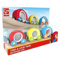 TRENO TAKE A LOOK take-a-look train HAPE trenino E3805 età 18 mesi +