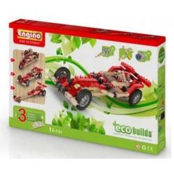 Motorized Racers CARS Eco Builds 3 AUTO MOTORIZZATE Engino KIT costruzioni in legno e plastica ETA' 6+