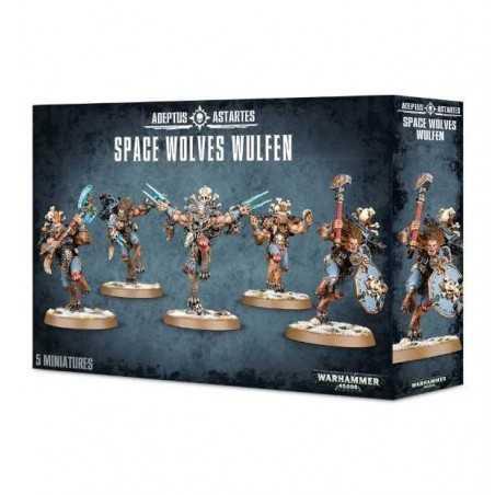 SPACE WOLVES WULFEN Warhammer 40k ADEPTUS ASTARTES 5 miniature GAMES WORKSHOP età 12+