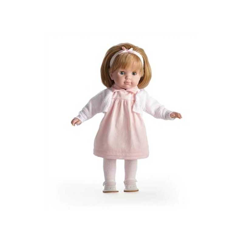 BAMBOLA con vestito ROSA Carla BEBE' 36 cm BERENGUER Boutique DOLL bambolotto MADE IN SPAIN età 3+