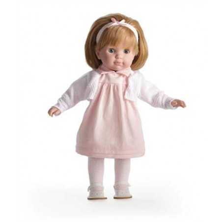 BAMBOLA con vestito ROSA Carla BEBE' 36 cm BERENGUER Boutique DOLL bambolotto MADE IN SPAIN età 3+