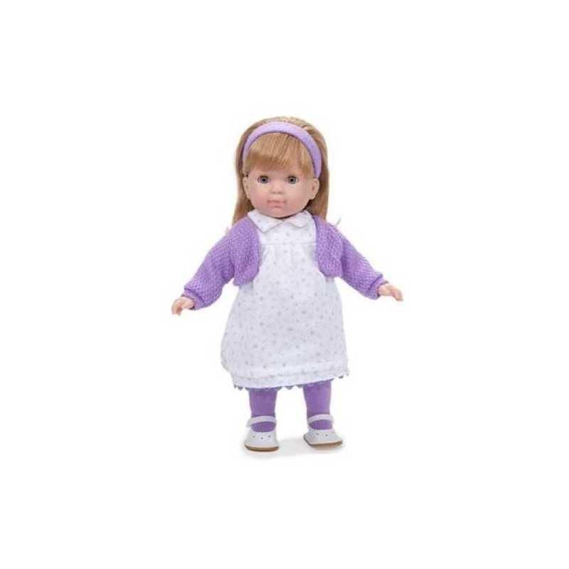 BAMBOLA con vestito a FIORI VIOLA Carla BEBE' 36 cm BERENGUER Boutique DOLL bambolotto MADE IN SPAIN età 3+