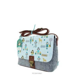 BORSA TRACOLLA traveller satchel LONDON Santoro 625GJ01 Gorjuss BAG shoulder