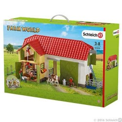 FATTORIA CON ACCESSORI animali FARM WORLD miniature in resina SCHLEICH 42333 età 3+