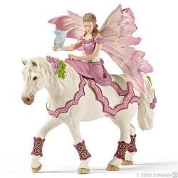 FEYA CON ABITO DELLA FESTA A CAVALLO personaggi BAYALA miniature in resina SCHLEICH 70519 età 3+