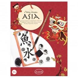KIT SCRITTURA ASIA ideogrammi stile asiatico CALLIGRAFIA scrivo il mio nome ALADINE kit artistico ETA' 7+
