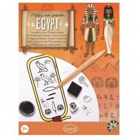 KIT SCRITTURA EGIZIA geroglifici stile egizio CALLIGRAFIA scrivo il mio nome ALADINE kit artistico ETA' 7+