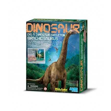 Scava un fossile di BRACHIOSAURO kit 4M scheletro di dinosauro KIDZ LABS età 8+