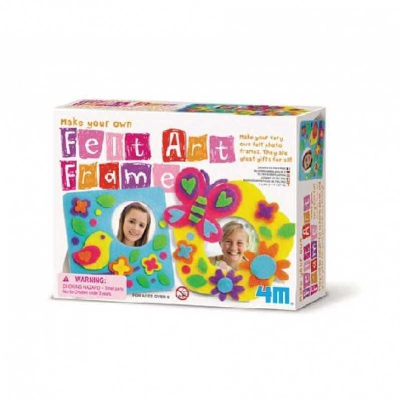 Crea la tua cornice in feltro FELT ART FRAME kit artistico 4M make your own PORTA FOTO età 8+