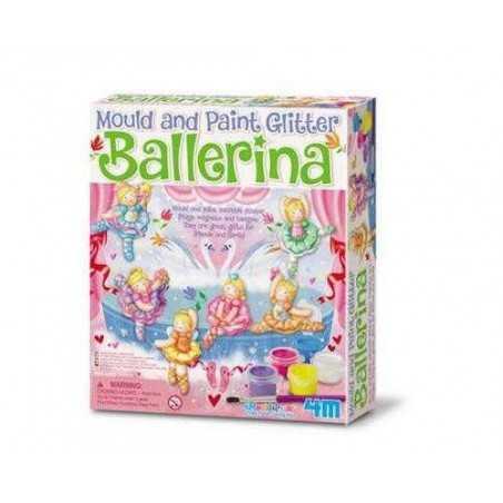 Modella e colora Glitter BALLERINA kit artistico 4M mould & paint glitter DANCER età 5+