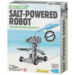 Salt Powered Robot VEICOLO FUNZIONANTE AD ACQUA SALATA kit 4M scientifico GREEN SCIENCE età 5+