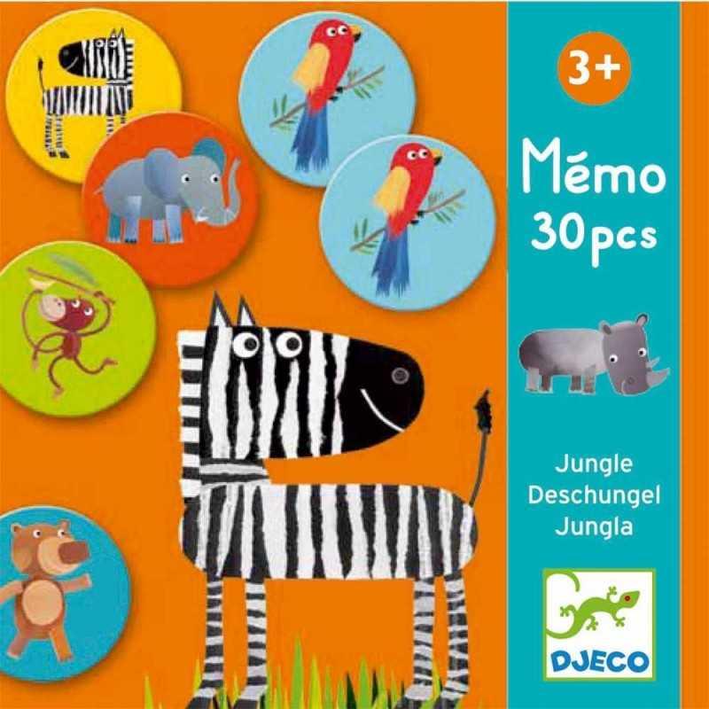 MEMO GIUNGLA JUNGLA 30 pezzi Djeco DJ08159