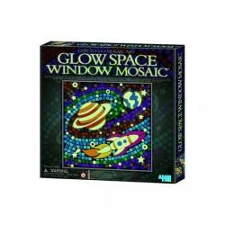 GLOW SPACE Window SPAZIO Mosaic Art MOSAICO CHE SI ILLUMINA AL BUIO kit artistico 4M età 7+