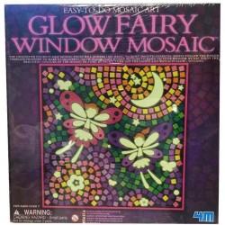 GLOW FAIRY Window FATE Mosaic Art MOSAICO CHE SI ILLUMINA AL BUIO kit artistico 4M età 7+