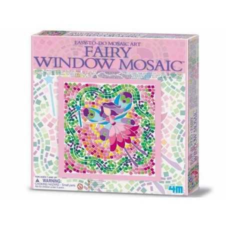 FAIRY Window Mosaic Art FATE kit artistico MOSAICO DA FINESTRA easy-to-do 4M età 7+