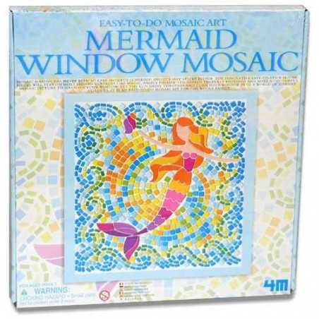 MERMAID Window Mosaic Art SIRENE kit artistico MOSAICO DA FINESTRA easy-to-do 4M età 7+