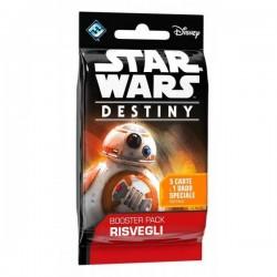 STAR WARS Destiny BOOSTER PACK Risvegli 5 CARTE E 1 DADO SPECIALE Asterion ESPANSIONE età 10+