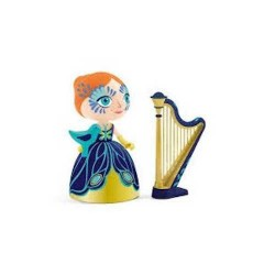 ELISA & ZE HARP Djeco IN LEGNO miniature ARTY TOYS action figure ARPA in resina DJ06771 età 4+