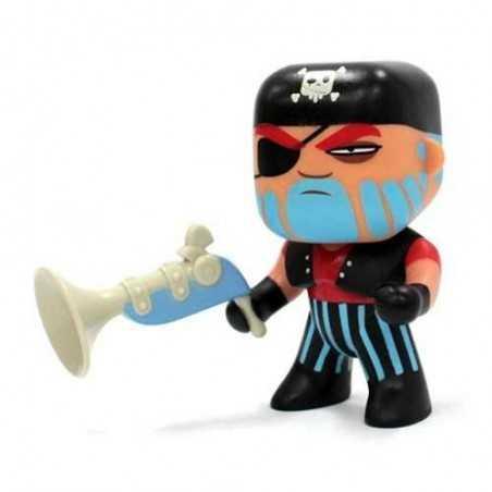 JACK SKULL Djeco ARTY TOYS miniature PIRATI action figure IN RESINA snodabile DJ06801 età 4+