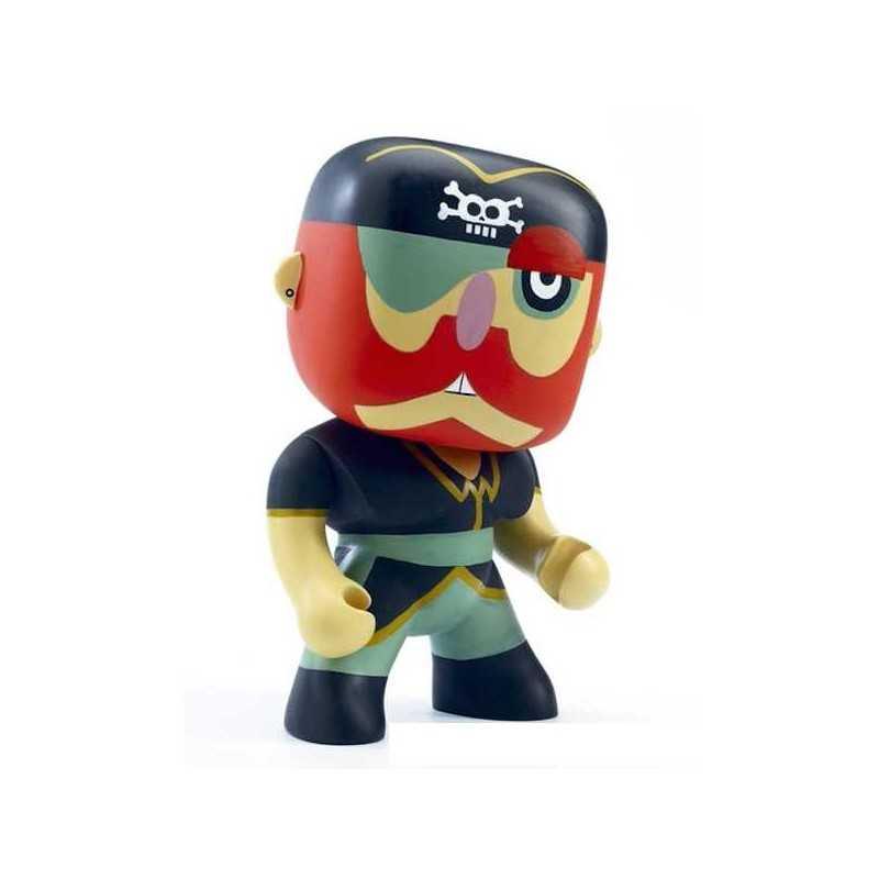 SAM PARROT Djeco GIGANTE alto 30 cm ARTY TOYS miniature PIRATI action figure IN RESINA DJ06836 età 4+