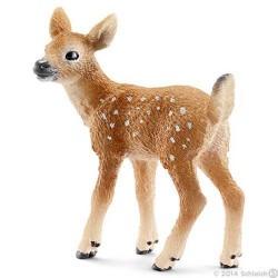 CERBIATTO VIRGINIANO animali in resina SCHLEICH miniature 13804 Wild Life ETA' 3+