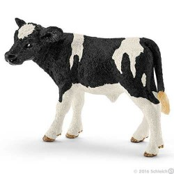 VITELLO HOLSTEIN animali in resina SCHLEICH miniature 13798 Farm Life ETA' 3+