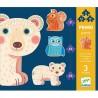 Primo PUZZLE Djeco NELLA FORESTA 3 puzzles DJ07143 educativo 9 12 E 16 PEZZI età 3+