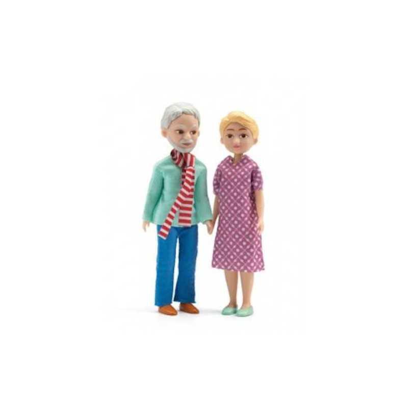 NONNI miniature in resina e tessuto PER LA CASA DELLE BAMBOLE gioco DJECO DJ07816 età 4 - 10 anni