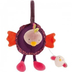 PELUCHE MUSICALE Moulin Roty GALLINA carillon in stoffa 656041 Les Cousins Du Moulin