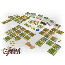 FIELDS OF GREEN gioco gestionale KICKSTARTER in inglese FATTORIA Artipia Games FARM età 12+