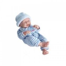 BAMBOLA bebè NEONATO pigiama AZZURRO a righe BERENGUER BOUTIQUE bambolotto PUPAZZO età 2+