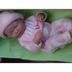 BAMBOLA bebè NEONATO pigiama ROSA a cuori BERENGUER BOUTIQUE bambolotto PUPAZZO età 2+