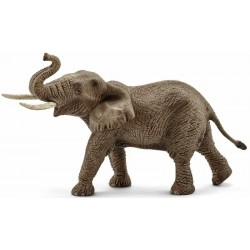 ELEFANTE AFRICANO MASCHIO animali in resina SCHLEICH miniature 14762 ELEFANT